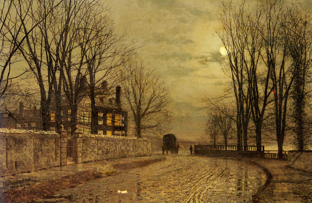 John Atkinson Grimshaw. The bend in the road