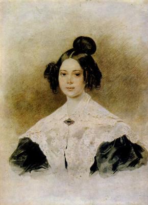 Петр Федорович Соколов. Женский портрет . 1830-е