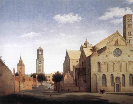 Питер Джансс Сенредам. Площадь Сан-Мэрис и церковь Святой Марии в Утрехте