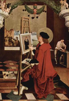 Никлаус Мануэль Дойтш. Св. Лука, рисующий Мадонну, створка алтаря
