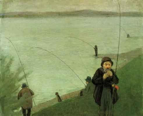 August Macke. Anglers on the Rhine