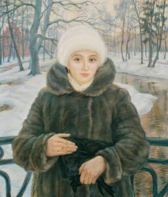Виктор Романович Семыкин. Женщина в шубке