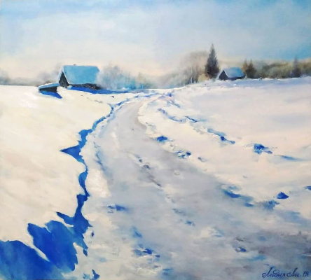 """Lydia Lee. """"The Road"""" (copy of the picture by V. Kirillov)"""
