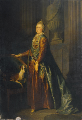 Etienne Maurice Falcone. Portrait of Catherine II