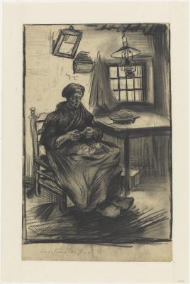 Винсент Ван Гог. Женщина чистит горох