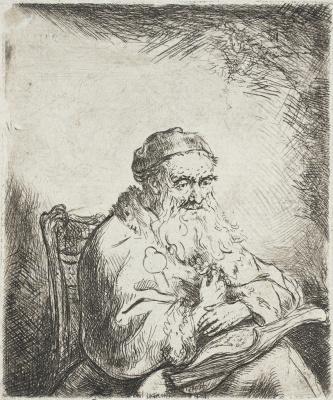 Фердинанд Балтасарс Боль. Пожилой мужчина на стуле