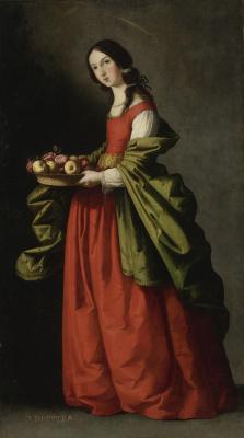 Франсиско де Сурбаран. Святая Доротея