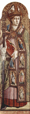 Carlo Crivelli. Holy Amidi. The Central altar of the Cathedral of Ascoli, polyptych, inside right