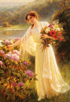 Альберт Линч. Сбор цветов