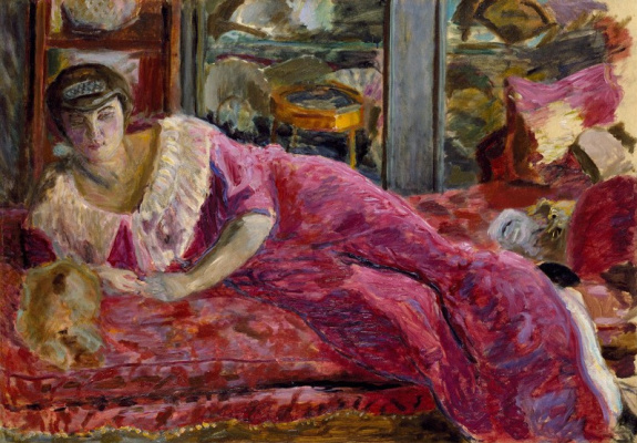 Pierre Bonnard. Misiah on the couch