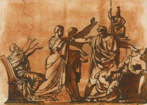 Théodore Géricault. Death of Lucretia. Etude