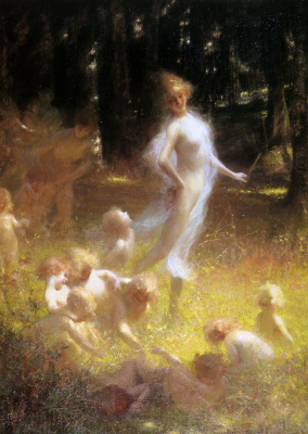 Georges Picard. Fairy and spirits in the undergrowth