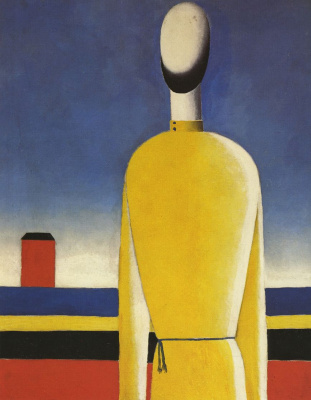 Kazimir Malevich. Complicated premonition (Torso in yellow shirt)