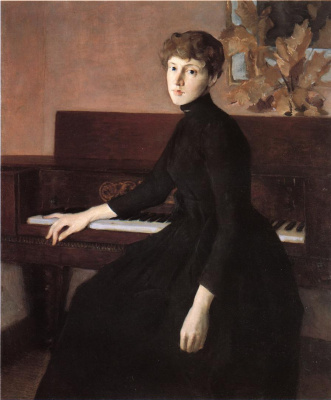 Джулиан Олден Уир. На фортепиано