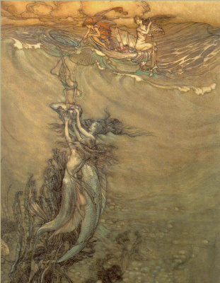 Arthur Rackham. Pearl from the depths