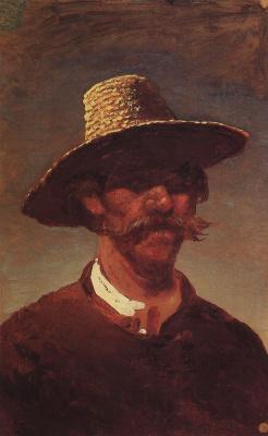 Архип Иванович Куинджи. Голова крестьянина-украинца в соломенной шляпе