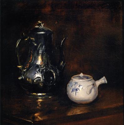 Уильям Меррит Чейз. Натюрморт с чайником