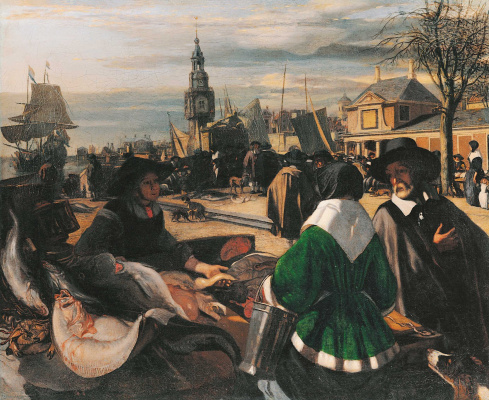 Emmanuel de Witte. Market in the port
