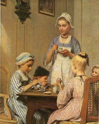 Альберт Анкер. Детский завтрак