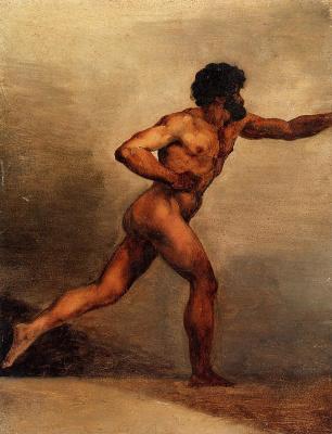 Théodore Géricault. Academic sketch running naked