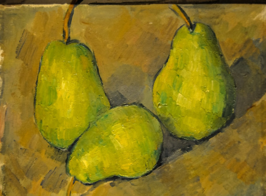 Paul Cezanne. Three pears