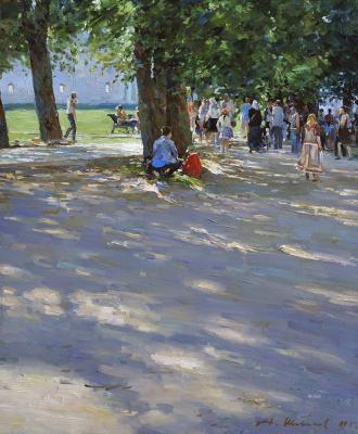 Alexander Victorovich Shevelyov. Avenue in New Jerusalem. Oil on canvas 50 x 60 cm, 2009