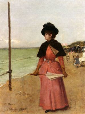 Эрнест Анж Дуез. Элегантная дама на пляже