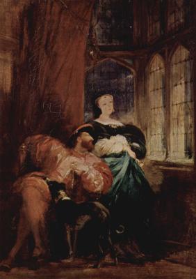 Richard Parkes Bonington. Francis I and Marguerite of Navarre