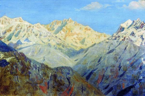 Vasily Vasilyevich Vereshchagin. The Himalayas. The main top. Etude