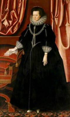 William Larkin. Portrait of Elizabeth Drury, Countess of Exeter