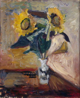 Henri Matisse. Sunflowers in a vase