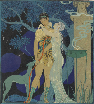 Georges Barbier. Comedy characters