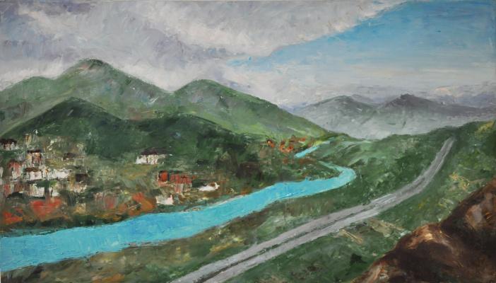Ekaterina Leonardovna Popova. Mtskheta. Georgia