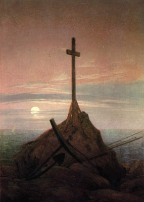 Caspar David Friedrich. Cross at the Baltic sea