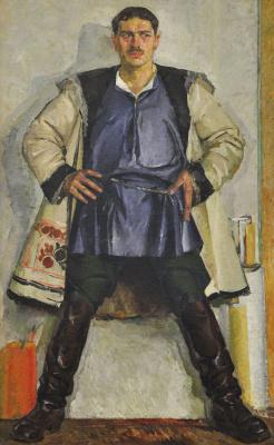 Фёдор Григорьевич Кричевский. Автопортрет в белом кожухе