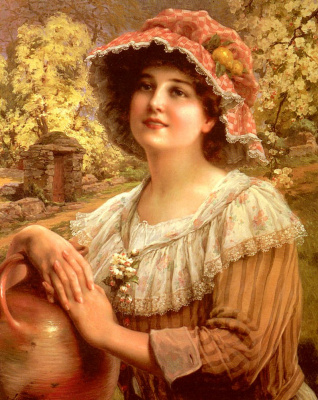 Emile Vernon. Spring in the village.