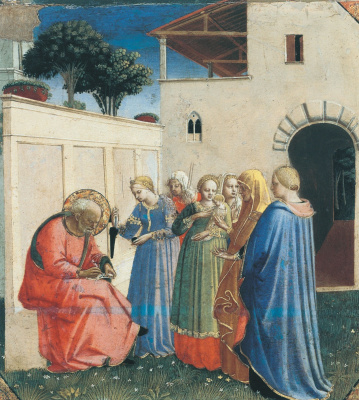 Fra Beato Angelico. Naming of the name John the Baptist. Around 1434–1435