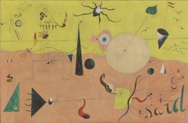 Joan Miro. The Catalan landscape. Hunter