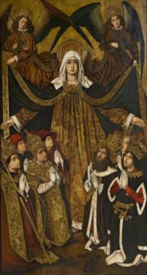 Bartolomé Bermejo. Virgin of Mercy