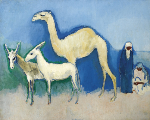 Kees Van Dongen. In the Egyptian desert there is an eastern scene. 1913