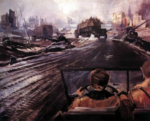 Yuri Ivanovich Pimenov. Frontline road