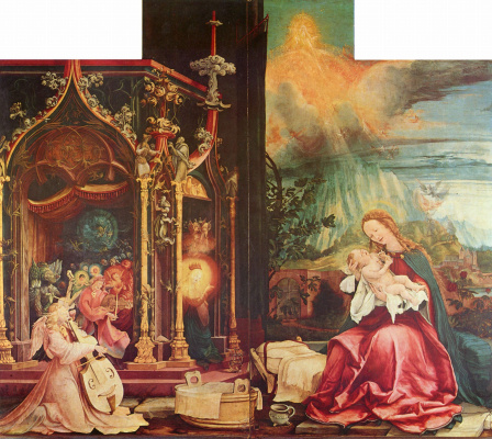 Matthias Grünewald. Sengeysky the altar, the inner side of the Central part