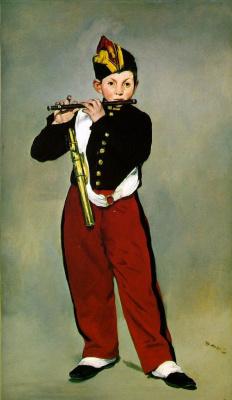 Edouard Manet. Flutist