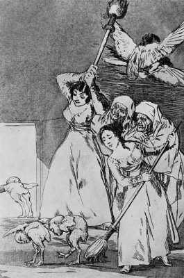 """Francisco Goya. """"So they nipped"""" (Series """"Caprichos"""", page 20)"""