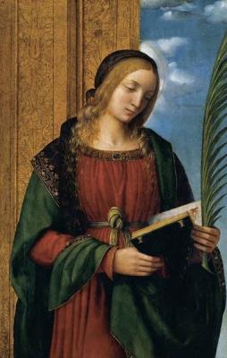 Бернардино Луини. Holy Barbara Martyr
