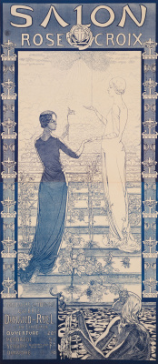 """Carlos Schwabe. Poster of the first """"Salon of the Rose + cross"""""""