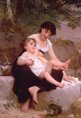 Эмиль Мюнье. Мать с ребенком