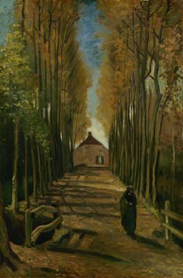 Винсент Ван Гог. Тополиная аллея осенью