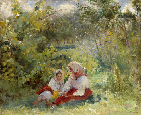 Konstantin Makovsky. In the garden
