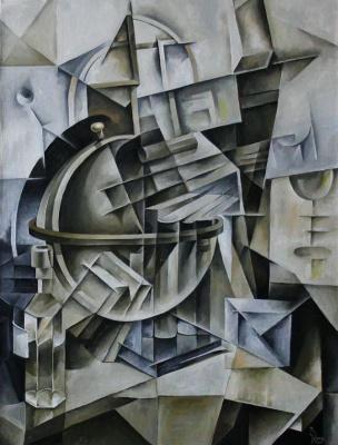 Vasily Krotkov. The globe. Kubofuturizm